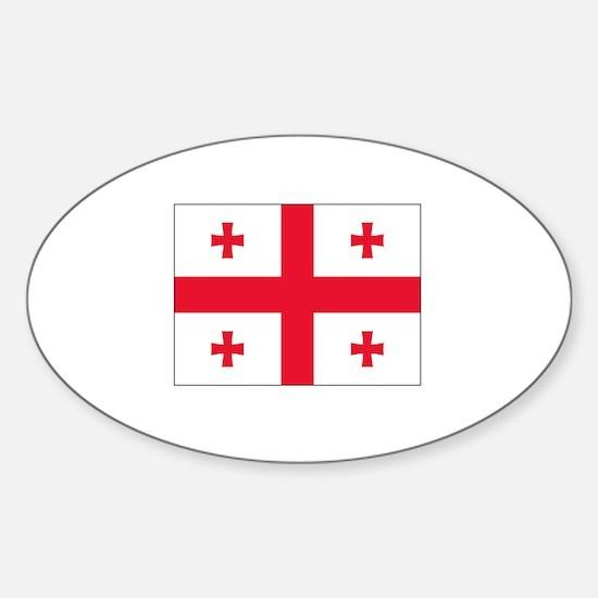 Georgia Flag Oval Decal