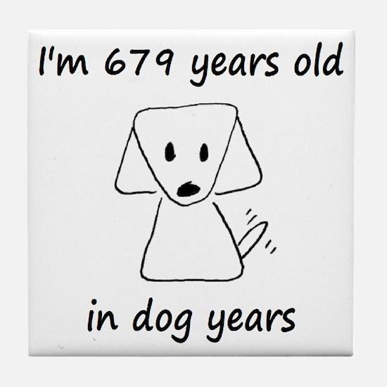 97 dog years 6 - 2 Tile Coaster