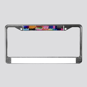 Multicolored check patterns st License Plate Frame