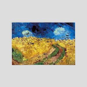 Van Gogh Wheatfield Crows 4' x 6' Rug
