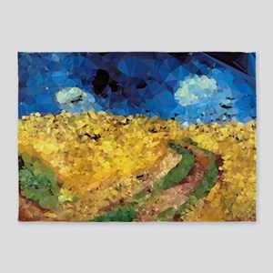 Van Gogh Wheatfield Crows 5'x7'Area Rug