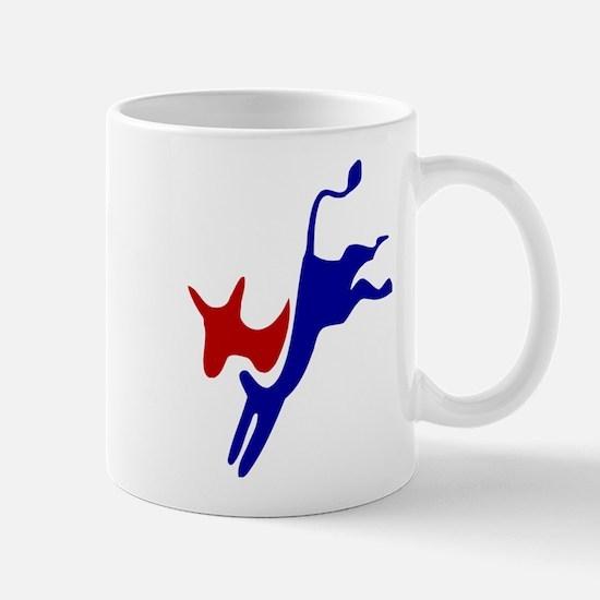 Bucking Democrat Donkey Mugs