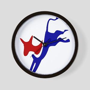 Bucking Democrat Donkey Wall Clock