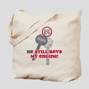 He Revs My Engine 25 Tote Bag