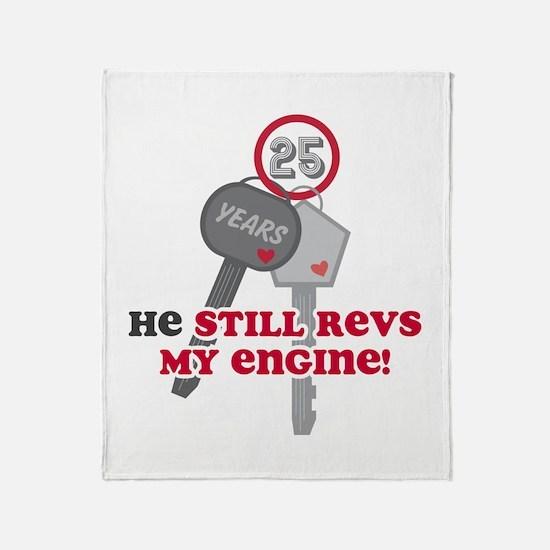 He Revs My Engine 25 Throw Blanket