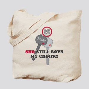 She Revs My Engine 25 Tote Bag