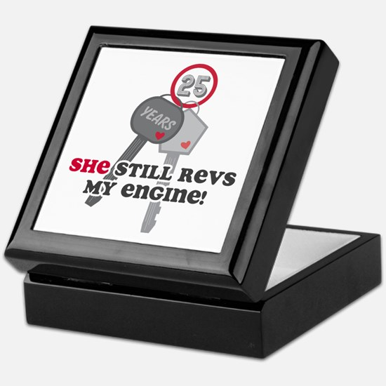 She Revs My Engine 25 Keepsake Box