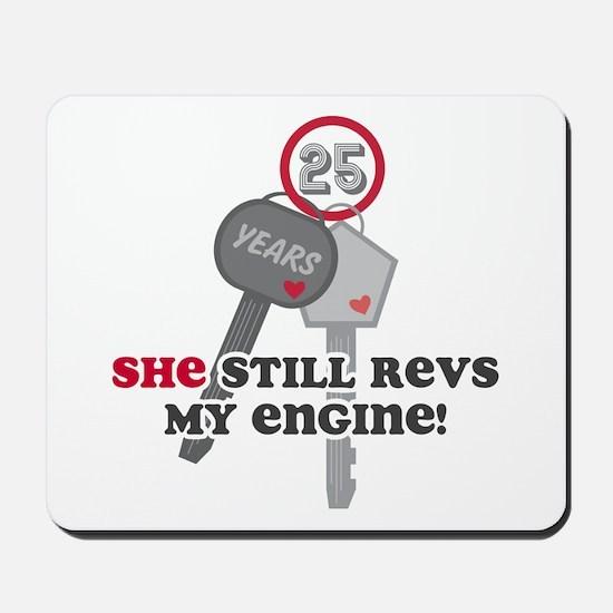 She Revs My Engine 25 Mousepad