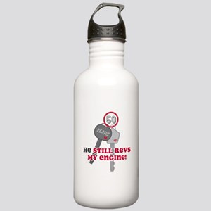 He Revs My Engine 50 Stainless Water Bottle 1.0L