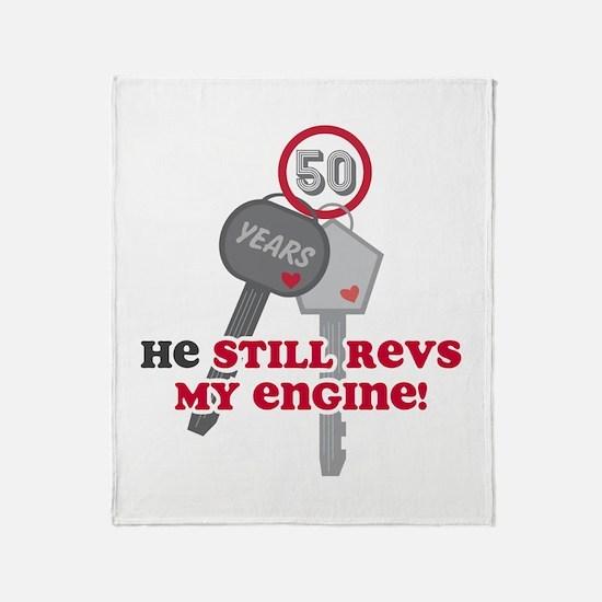 He Revs My Engine 50 Throw Blanket