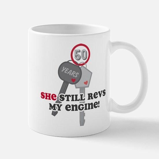 She Revs My Engine 50 Mug