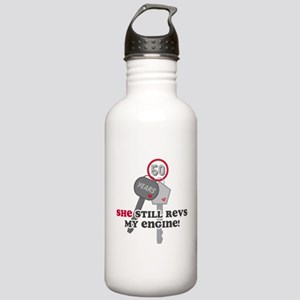 She Revs My Engine 50 Stainless Water Bottle 1.0L