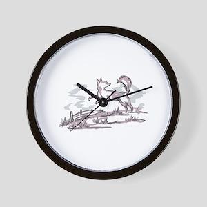 DELFTWARE FOX Wall Clock