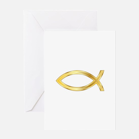 LARGE CHRISTIAN FISH Greeting Cards