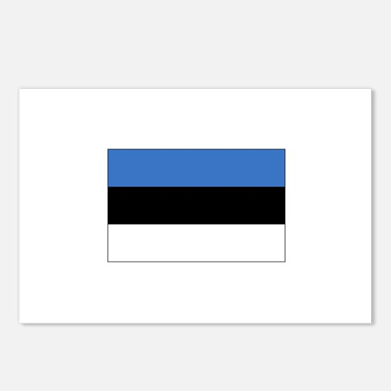 Estonia Flag Postcards (Package of 8)