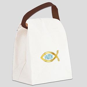 CHRISTIAN FISH FAITH Canvas Lunch Bag