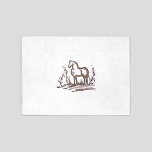 DELFTWARE HORSE 5'x7'Area Rug