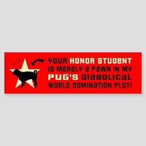 Pug World Domination -Dog Bumper Sticker
