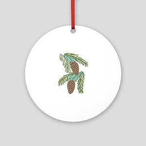 PINE CONES Ornament (Round)