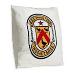 USS FANNING Burlap Throw Pillow