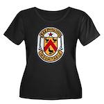 USS FANN Women's Plus Size Scoop Neck Dark T-Shirt