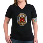 USS FANNING Women's V-Neck Dark T-Shirt