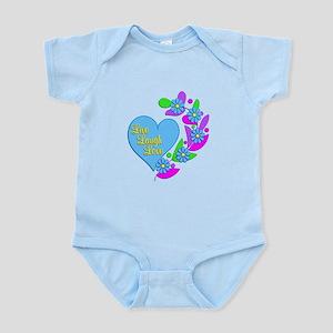 Live Laugh Love Heart Infant Bodysuit