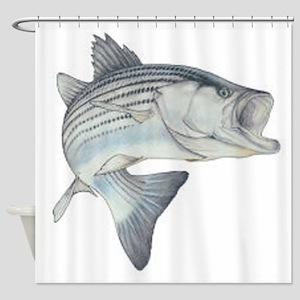 stripe bass Shower Curtain