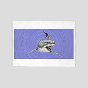 Great White Shark ~ 5'x7'area Rug