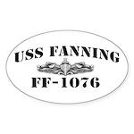 USS FANNING Sticker (Oval)