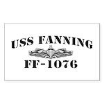 USS FANNING Sticker (Rectangle)
