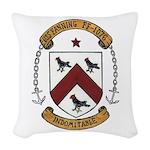 USS FANNING Woven Throw Pillow