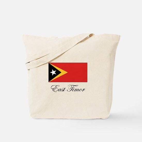 East Timor - Flag Tote Bag