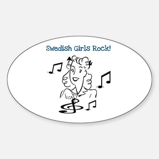 Swedish Girls Rock Oval Decal