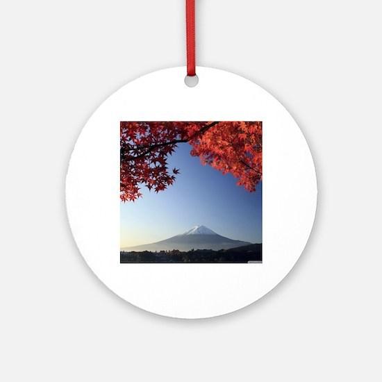 Mt Fuji  Round Ornament