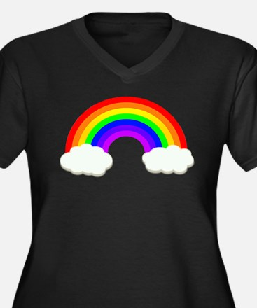 Rainbow in the clouds Plus Size T-Shirt