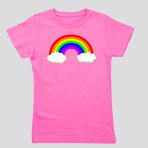 Rainbow in the clouds Girl's Tee