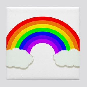 Rainbow in the clouds Tile Coaster