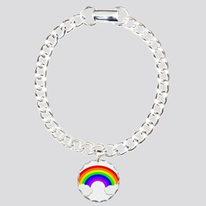 Rainbow in the clouds Charm Bracelet, One Charm