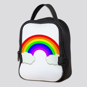 Rainbow in the clouds Neoprene Lunch Bag