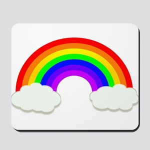 Rainbow in the clouds Mousepad