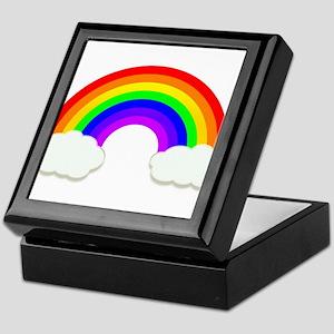 Rainbow in the clouds Keepsake Box
