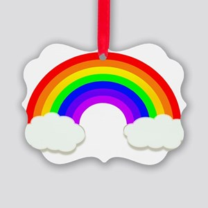 Rainbow in the clouds Picture Ornament