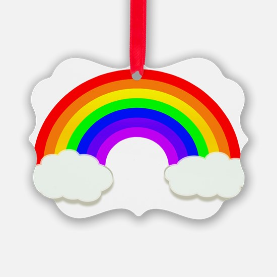 Rainbow in the clouds Ornament