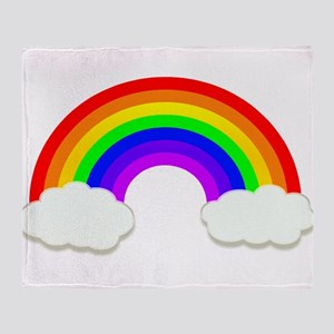 Rainbow in the clouds Throw Blanket