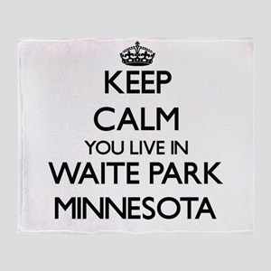 Keep calm you live in Waite Park Min Throw Blanket