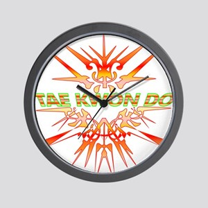 TKD Abstract Sparring Wall Clock