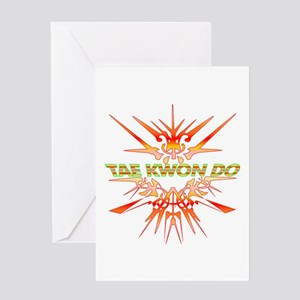 TaeKwonDo Abstract Sparrin Greeting Cards