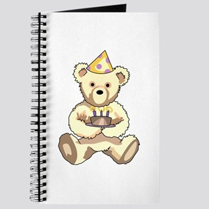 Happy Birthday Teddy Bear Journal