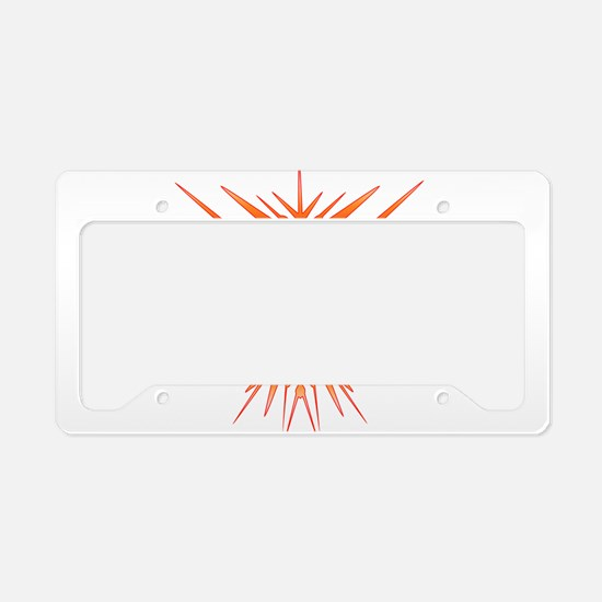 TKD Abstract Sparring License Plate Holder